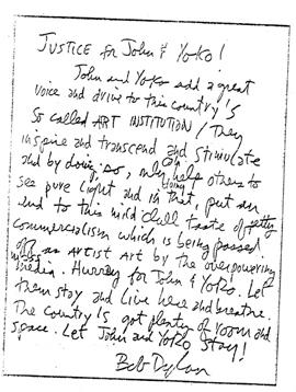 John Lennon INS letters